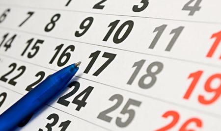 Calendario de adjudicación de horarios