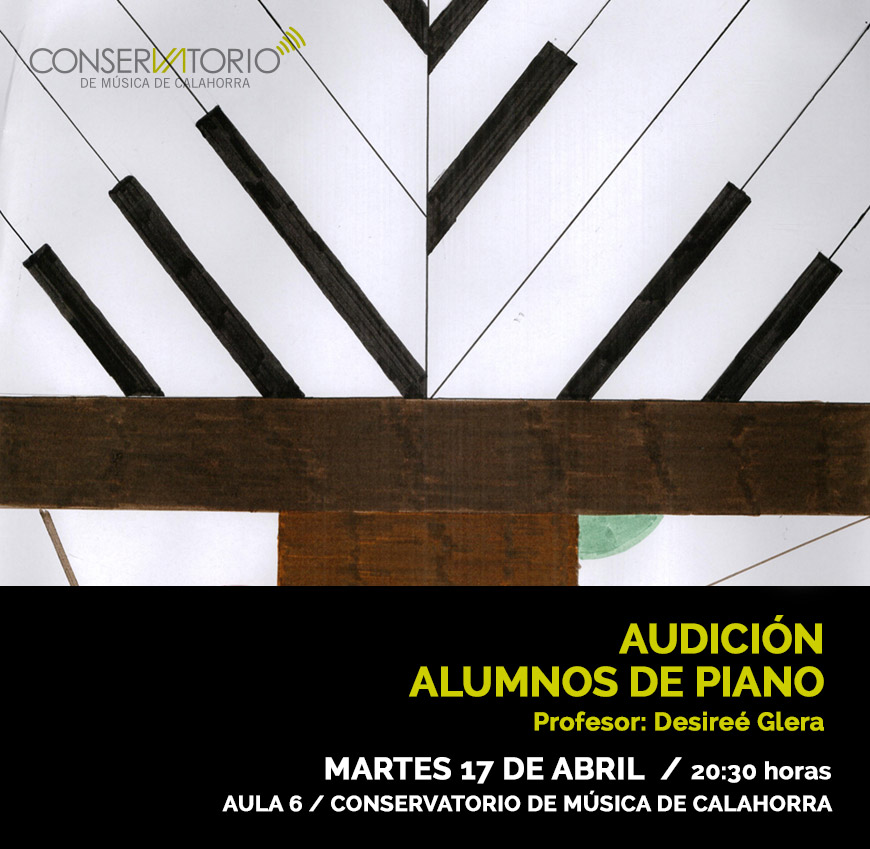 CARTEL AUDICION PIANO