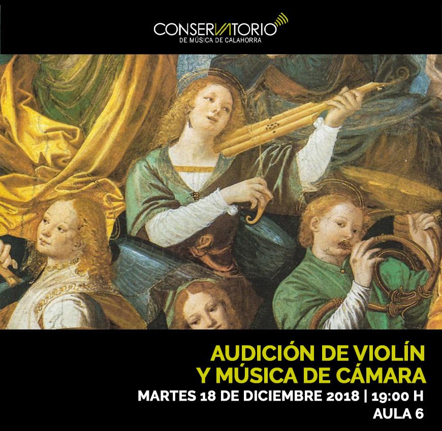 Audición de Violín y Música de Cámara