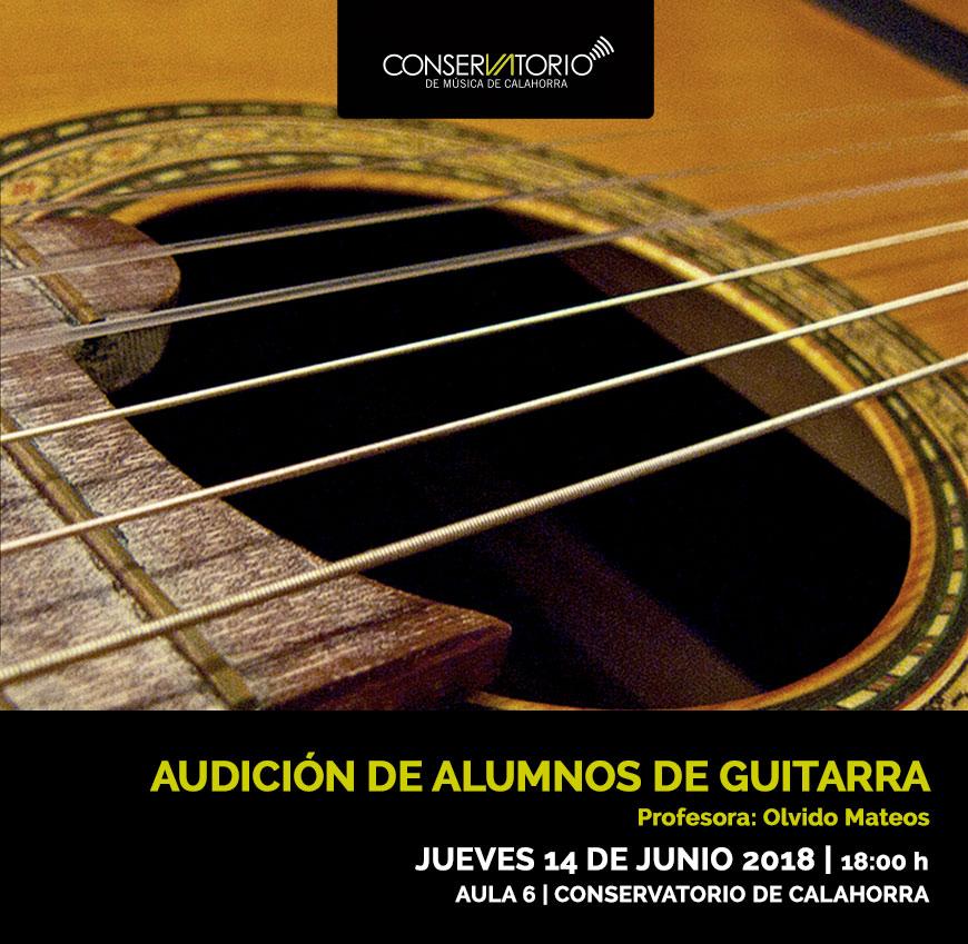 Audición alumnos de guitarra